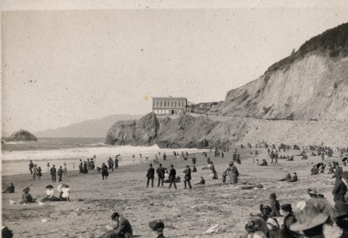 Construction Of A New Cliff House Begins.